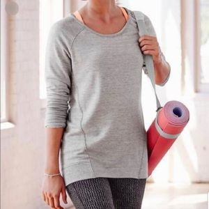 Athleta Studio CYA Gray Crewneck Sweatshirt